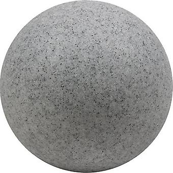Heitronic 35958 Mundan Garden light Sphere LED (monochrome), Energy-saving bulb E-27 15 W Granite grey (matt)