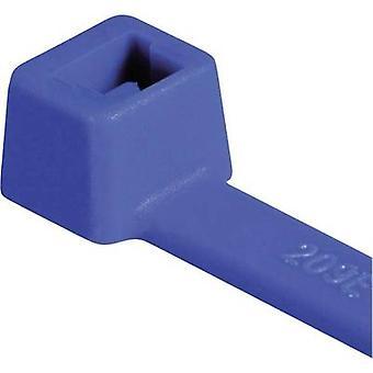 HellermannTyton 111-03008 T30R-PA66-BU Cable tie 150 mm 3.50 mm Blue Weatherproof 100 pc(s)