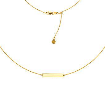 """Schlossdrücker Bar Halskette 14k Gold Halskette, 16"""" einstellbar"""