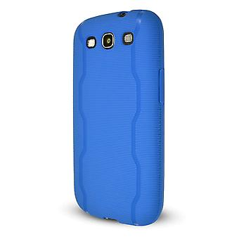 Technocel Textured Slider Skin Cover for Samsung Galaxy S3 (Blue) - SAL710SSTBL-Z