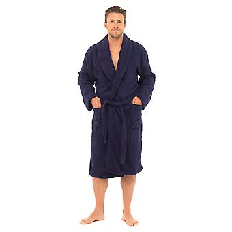 Tom Franks Mens Supersoft bumbac Nightwear Halat de baie Halat de baie