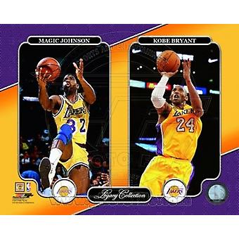 Magic Johnson & Kobe Bryant Legacy Collection Sports Photo (10 x 8)
