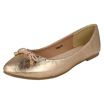 Ladies Leather Collection Slip On Ballet Shoes F80276
