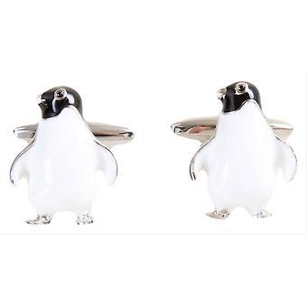 David Van Hagen Penguin Cufflinks - blanc/noir