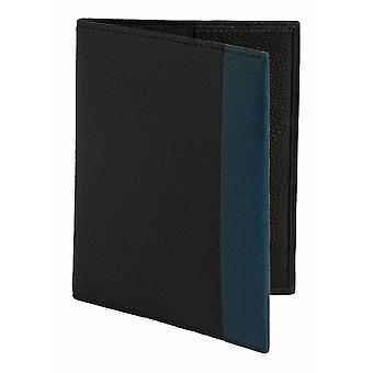 Simon Carter Colour Strip Passport Cover - Black/Blue
