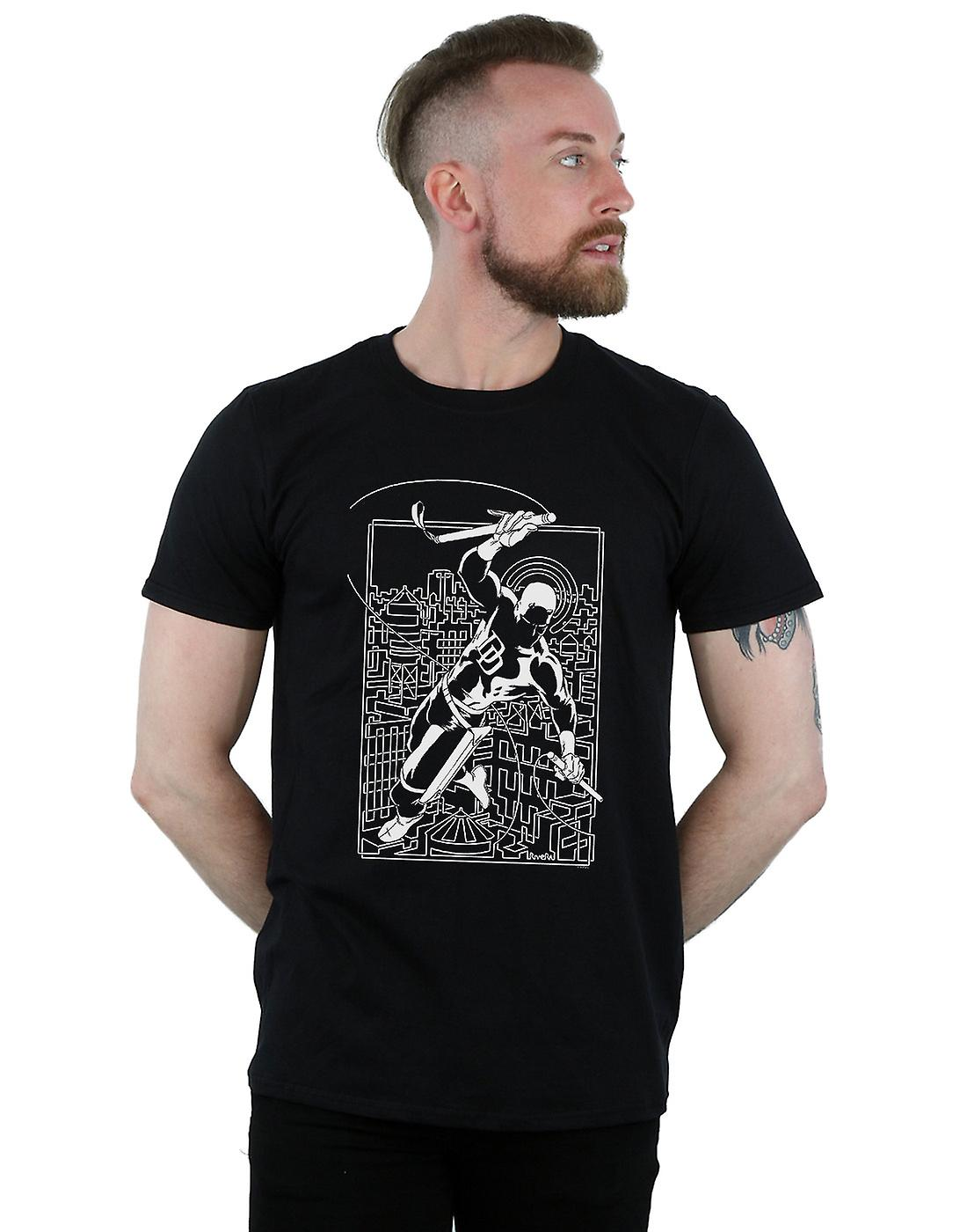 Marvel Men's Daredevil Silhouette T-Shirt