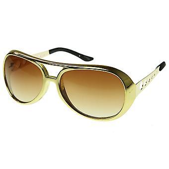 Rey grande Elvis de gafas de sol de aviador TCB Rock Rock & Roll