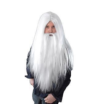Kreator Wig _ brodę. Długie białe.