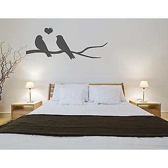 طيور الحب على ملصق حائط فرع