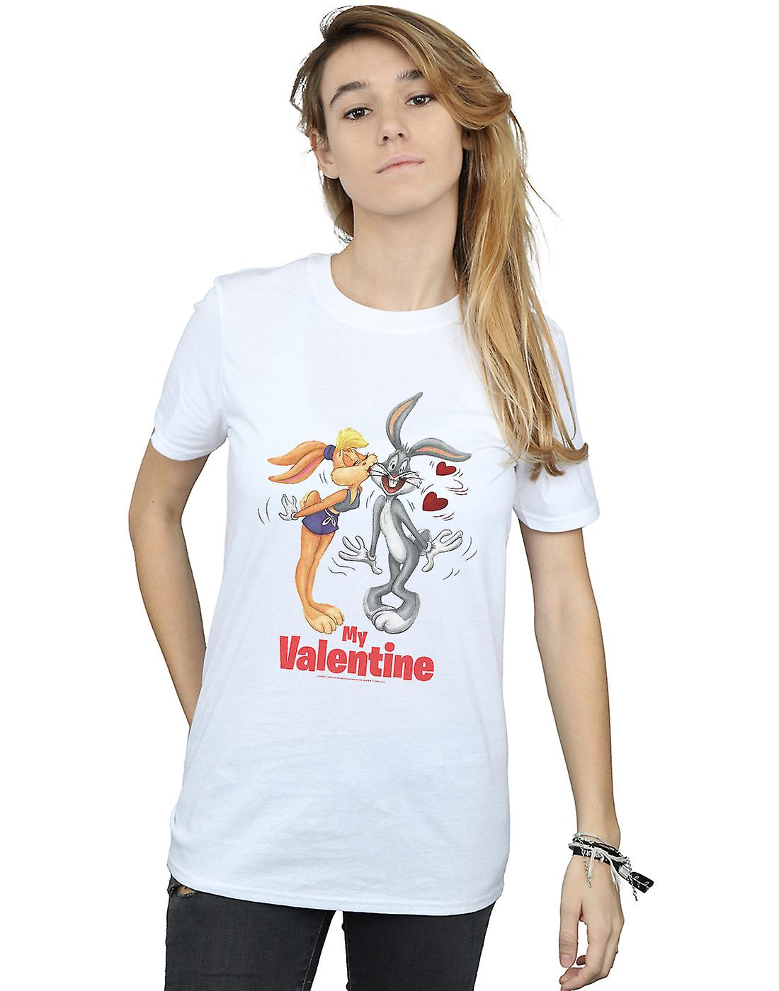 Looney Tunes Women's Bugs Bunny And Lola Valentine's Day Boyfriend Fit T-Shirt