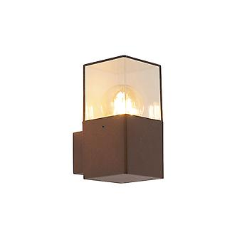 QAZQA Modern Outdoor Wall Lamp Rust-Brown IP44 - Denmark