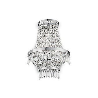 Ideal Lux - César Chrome et Crystal Wall Light IDL137698