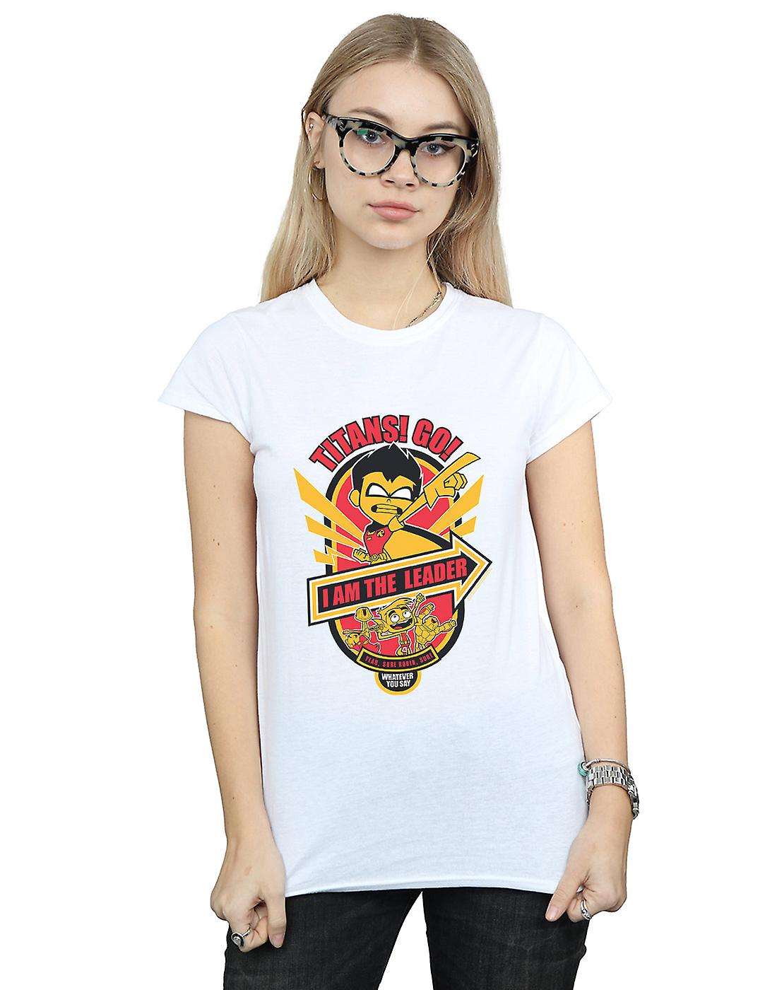 DC Comics Women's Teen Titans Go I Am The Leader T-Shirt