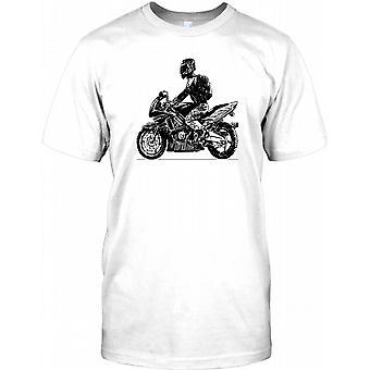 Cool motorcykel Biker Design Kids T Shirt