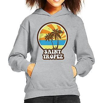 Saint Tropez Beach Retro Kid's Hooded Sweatshirt