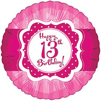 Creative Party Perfectly Pink Happy 13th Birthday Foil Balloon