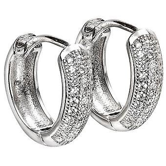 Beginnings Huggy Hoop Cubic Zirconia Earrings - Silver