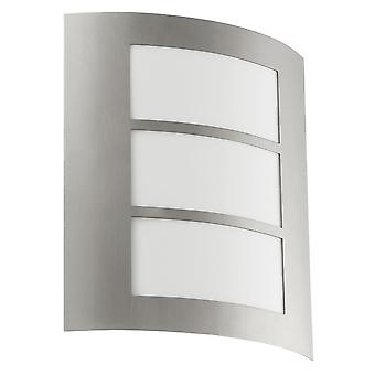 Eglo City Outdoor IP44 Stainless Steel Wall Light