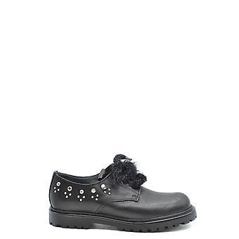 Liu Jo Ezbc086156 Dames's Black Leather Lace-up Schoenen