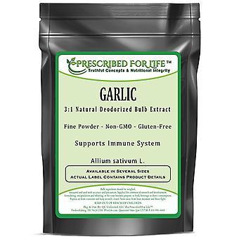Garlic - 3:1 Natural Deodorized Bulb Powder Extract (Allium sativum L.)