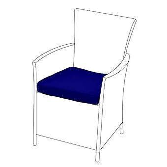 Cuscino sedile blu per sedia rattan, confezione da 6