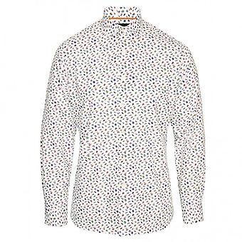 Duchamp of London Gentleman's Wardrobe Printed Shirt, Colour 129