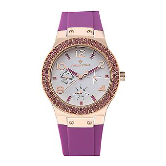Timothy Stone Women's FA�ON-SPORT Rose Gold-Tone and Purple Strap Watch