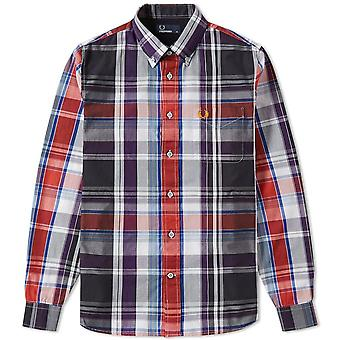 Fred Perry Men's Bold Check Long Sleeve Shirt - M8265-100