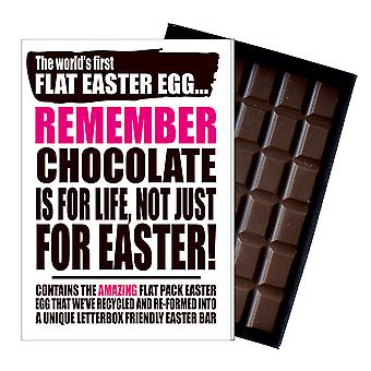 Funny Flat Easter Egg Chocolate Bar Greeting Card Gift Boyfriend Girlfriend UK EIYF123