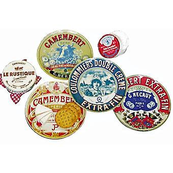 BIA Set of 4 Camembert Design Canape Plates, 12.5cm