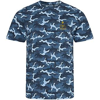 Royal Monmouthshire Royal Engineer Veteran - Licensed British Army Embroidered Camouflage Print T-Shirt