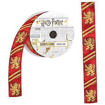 Harry Potter Gryffindor satijnen lint (5 meter)