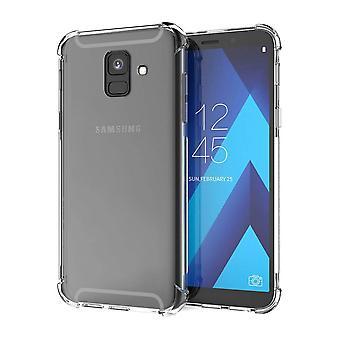 Bagcover stødsikker TPU + PC til Samsung A6 plus 2018 transparent