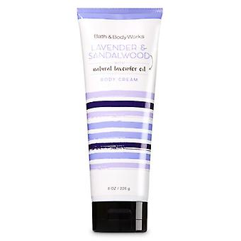 Bath & Body Works Lavender & Sandalwood Natural Lavender Oil Body Cream 8 oz / 226 g (Pack of 2)