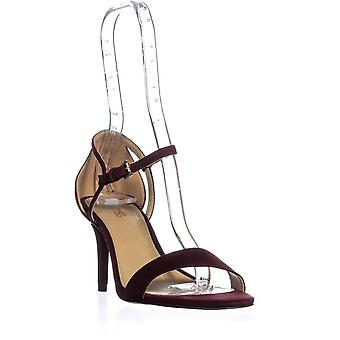 Michael Michael Kors Womens Simone Leather Open Toe Casual Ankle Strap Sandals