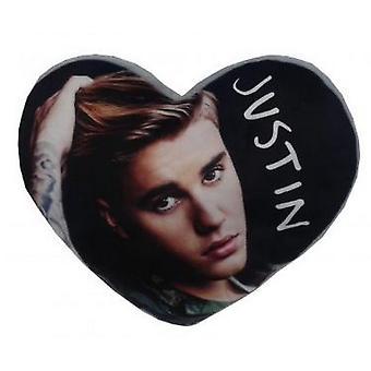 Justin Bieber Heart Shaped Cushion