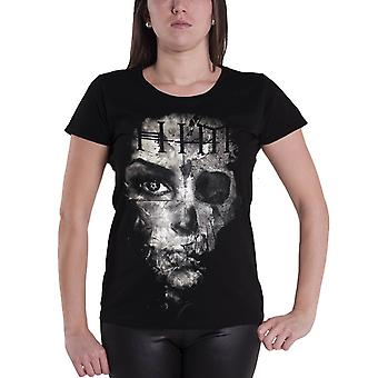 HIM T Shirt band logo Ville Valo Official Womens New Black Skinny Fit