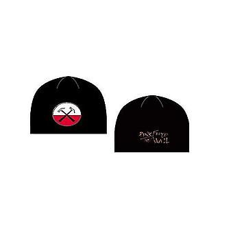 Pink Floyd Beanie Hat Cap The Wall Hammers logo new Official black