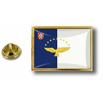 Pine PineS rinta nappi PIN-apos; s metalli perhonen hyppysellinen lippu Acores Portugali