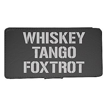 iPhone 6/6s wallet case WTF Whiskey Tango Foxtrot Shell
