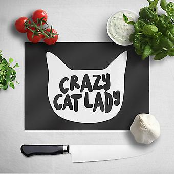 Crazy Cat Lady Chopping Board (Crazy Cat Lady Chopping Board)