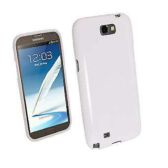 Samsung Galaxy S3 TPU Shell-transparent hvit + skjermbeskyttelse