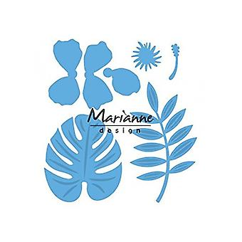 Marianne Design Creatables Hibiscus och tropiska lämnar dö, metall, blå, 16 x 12,4 x 0.2 cm
