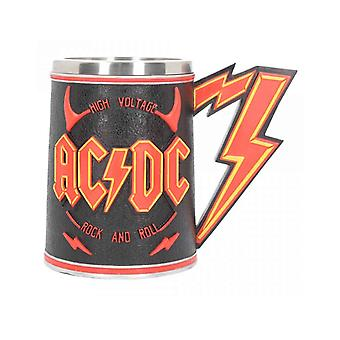 AC/DC Tankard High Voltage Lightning Band Logo new Official Hand Painted Boxed