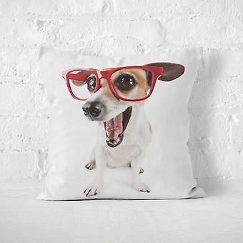Meesoz pernă Cover - Câine cu ochelari roșii pe