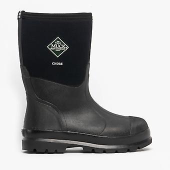 Muck laarzen karwei mid Unisex rubber Wellington laarzen zwart