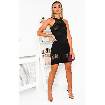 IKRUSH Womens danielle Bodycon Lace mini jurk