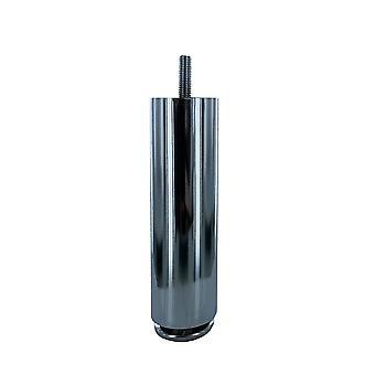 Ronde chromen meubelpoot 15 cm met een diameter van 4 cm (M8)
