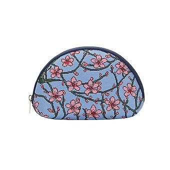 Almond blossom and swallow cosmetic bag by signare tapestry / cosm-blos