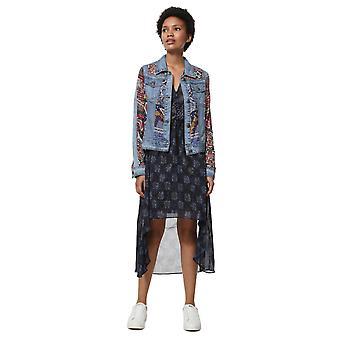Desigual Women's Willem Pattern Panel Light Denim Jacket